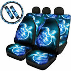 7 Pack Womens Car Seat Covers Combo Set Steering Wheel Cover Seat Belt Pads