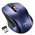 VicTsing 2.4GHZ Wireless Optical Mouse Mice +Receive for PC Laptop Mac Computer