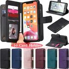 10 Card Slot Wallet Flip Leather Case Cover For Iphone 12 Pro Max 11 Xr 6 7 8 Se