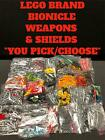 LEGO BIONICLE REPLACEMENT PARTS WEAPONS SHIELDS CLAWS FANGS