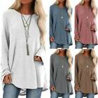 Womens Long Sleeve Loose Jumper Blouse Ladies Casual Pullover T-shirt Tunic Tops