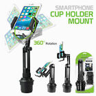 Car Cup Holder Cell Phone Mount Adjustable 360 Cradle Universal Stand By Cellet
