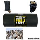 Heavy Duty Waste Sacks Bags Rubbish Large Black Builders Rubble - 10, 30 and 60