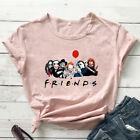 Best Friends Halloween Party T-shirt Funny Women Graphic Holiday Top Tee Shirt