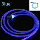 2A LED Flowing Magnetic Charge Cable For iOS 7 8 X Type-C Samsung 20 Android Lot