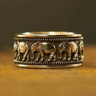 Fashion Elephant 925 Silver Rings For Men Jewelry Party Rings Size 7-12