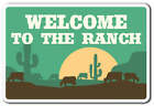 WELCOME TO THE RANCH Decal animals cowboy scenery farm Tall