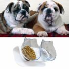 Double Food Bowl With Stand Elevated Cat Dog Pet Feeding Water Bowl Detachable