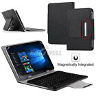 "US For Android 7"" 8"" 9.7"" 10"" 10.1"" Tablets Leather Case Wireless Keyboard Cover"