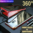 For Samsung S20 Plus S10S8S9 Note 20 10 98 Full Magnetic Glass Anti-Spy Case 360