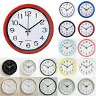 Round Wall Clock Quartz Silent Movement Home House Bedroom Kitchen Decor Clocks