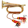 More images of MILITARY BRASS BUGLE BRITISH ARMY ARTILLERY LAST POST MUSICAL INSTRUMENT