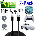 2-Pack PS5 Controller Charging Cable 10FT PVC USB-C High Speed Data Sync Cord