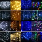 4M 4.5M 96 216 LED Window Curtain Icicle String Fairy Lights Wedding Party Decor
