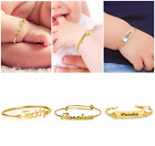 14K Gold Plated Personalized Baby ID Bracelet, Custom Name Boy or Girl Bracelet