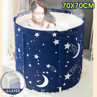 US Portable Bathtub Water Tub Folding PVC Adult Spa Bath Bucket 70x70cm Bathtub