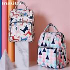 Insular Maternity Nappy Bag Large Capacity Travel Backpack Cartoon Nursing Bag