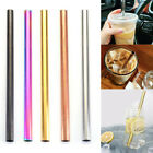 304 Stainless Steel Straight Boba Bubble Tea Drinking Straw Reusable 12mm Wide