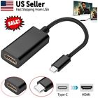 4k HD USB-C Type C to HDMI Female Adapter USB 3.1 Cable For Android Phone Tablet