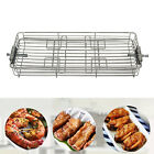 Rotary Oven Grill Basket BBQ Roaster Spit Rotisserie Cage Shrimp Meat Rack photo