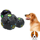 Transer Pet Supply Dog Toy Silicone Rubber Ball Squeak Chew Toys For M L S DogLD