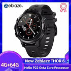"Zeblaze Thor 6 Flagship 1.6"" Smart Watch 4G+64G Android10 P22 Octa Core"