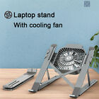 Laptop Stand Holder With Cooling Fan Portable Foldable Aluminum Alloy Bracket