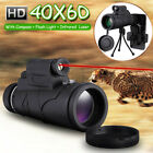 40X60 Zoom HD Clip-on Kit Phone Lens Monocular Telescope+Laser Light+Tripod