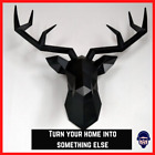 Home Decor Accessories 3d Deer Head Statue Sculpture Wall Animal Design Room Art