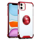 CLEAR Case Cover For iPhone 12 Mini/Pro/Pro Max Ring Stand Holder Kickstand