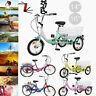 "Child Trike 14""/16"" 1-Speed 3 Wheel Tricycle Cruise Bike W/Basket& Install Tools"