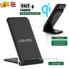 Qi Fast Wireless Charger Charging Dock Stand For iPhone 12 Pro Max 11 XS XR X 8