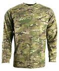 Army Jumper Hunting Long Sleeve Pullover Sweater Combat Tactical Shirt Camo MTP