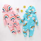 Fashion Newborn Infant Baby Boys Girls Rainbow Tie Dyed Romper Jumpsuit Outfits