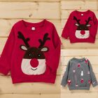 Toddler Baby Boys Girls Winter Christmas Cartoon Print Tops Pullover Sweatshirt
