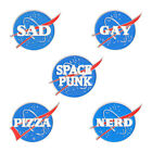 Sad Nerd Pizza Letter Brooch Creative Funny Enamel Lapel Pins Backpack Badge New