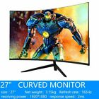 MUCAI 27 inch Curved PC Computer Monitor 165Hz MVA Screen HD Ultra Thin curved