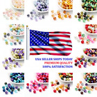 400pcs Bag Mixed Color Pearlized Glass Beads Pearl Beads 4mm