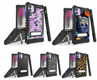 For iPhone 11 PRO MAX Hybrid Armor Kickstand Case Carbon,Camo,Space Galaxy