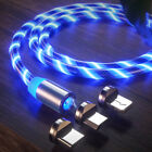 Magnetic LED Light Up USB Phone light up Charger Cord For iPhone Android Samsung