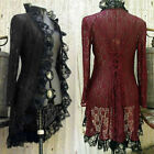 Medieval Collar Steampunk Cardigan Retro Women Stand Coat Lace Jacket Victorian