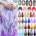 Womens Cosplay Full Wigs Long Curly Straight Wavy Hair Halloween Costume Wigs