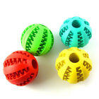Pet Dog Bite Resistant Toy Food Treat Feeder Tooth Chaw Cleaning Ball ur