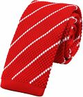 Men's Novelty Skinny Knit Tie Vintage Smart Patterned Formal Necktie for Groom -