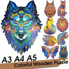 Wooden Jigsaw Puzzle Unique Color Shape Jigsaw Pieces Best Gift for Adult Kid UK