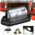 1/2/4Pcs Universal 4 LED License Number Plate Light Lamp Truck Traile