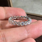 Fashion 925 Silver Rings for Women White Sapphire Wedding Jewelry Gift Sz 6-10