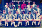 HUDDERSFIELD TOWN FC AUTOGRAPHS FROM LATE 1970-90's SIGNED WHITE CARDS