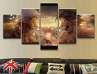 Battle Eren Yeager Attack Titan 5 Pieces Canvas Print Poster HOME DECOR Wall Art
