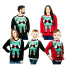 Adult Women Kids Christmas Retro Knitted Jumper Xmas Warm Sweater
